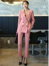 Quality Fashion 4 Colors Double-breasted Slim Long Suits