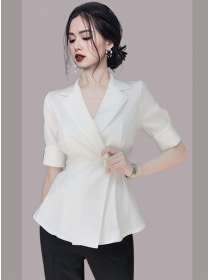 All Match Fashion 2 Colors Tailored Collar Slim Jacket