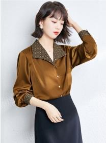 Korea Wholesale 2 Colors Wraps V-neck Puff Sleeve Blouse