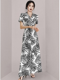 Stylish High Waist Double-breasted Wide-leg Long Jumpsuit