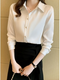 Grace Fashion Shirt Collar Long Sleeve Women Blouse