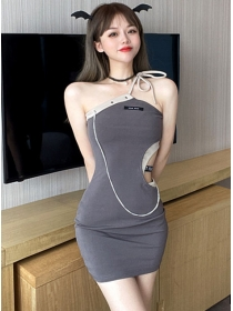 Sexy Wholesale Waist Hollow Out Straps Bodycon Dress
