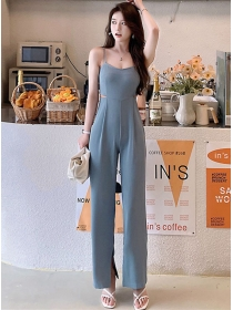 Modern Sexy Waist Hollow Out Slim Straps Long Jumpsuit