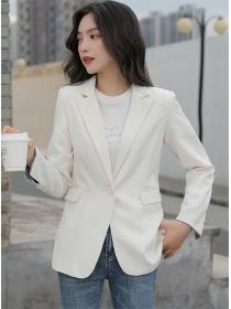 Wholesale Korea 2 Colors One Button Tailored Collar Short Jacket