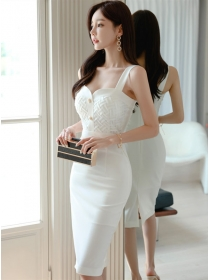 Wholesale Stylish Fitted Waist Straps Bodycon Dress