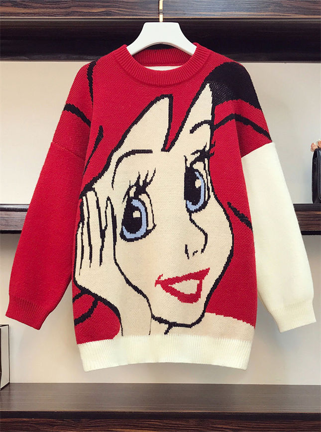 Lovely Wholesale Plus Size Cartoon Sweater Pullovers