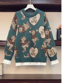 Autumn Wholesale 3 Colors Cartoon Plus Size Sweaters