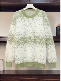 Plus Size Fashion 3 Colors Round Neck Mohair Sweaters