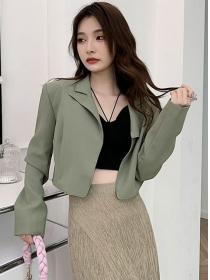 Autumn Fashion Tailored Collar Casual Short Jacket