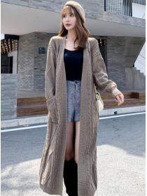 Quality Fashion 3 Colors Twisted Knitting Cardigan Coat