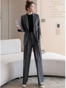 Casual Wholesale Tailored Collar Jacket with Long Pants