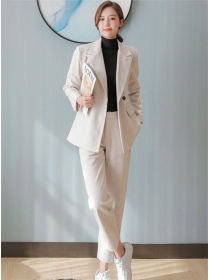 Winter New Tailored Collar Thick Woolen Two Pieces Suits