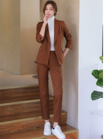 Retro Wholesale Tailored Collar One Button Slim Long Suits